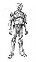 Нажмите на изображение для увеличения Название: Paul Harmon's design for the Razorback suit, as seen in Tales of the TMNT #50.jpg Просмотров: 4 Размер:37,3 Кб ID:161526